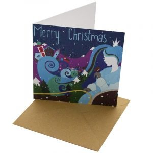 Re-wrapped: ECO Friendly Xmas Wrapping Paper Christmas Snow Queen Greetings Card by Vicky Scott made from 100% Unbleached Recycled Card