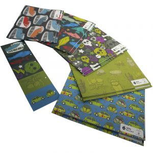 Re-wrapped: ECO Friendly Wrapping Paper Masculine Large Pack by Rosie Parkinson made from 100% Unbleached Recycled Paper